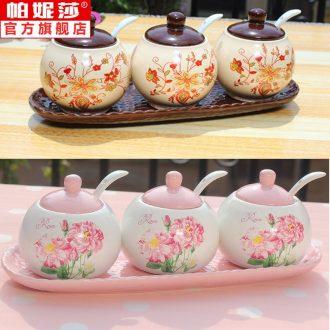 . Palmer Vanessa ceramic seasoning three-piece cans Korea soup bowl condiment oil restores ancient ways the pot sugar jar