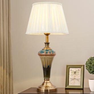 2019 new American marriage room bedroom lamp contracted creative fashion household berth lamp ceramic sitting room decorate restoring ancient ways