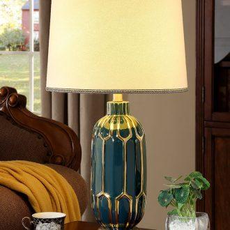 American simple ceramic desk lamp bedroom married new modern Nordic light luxury home bedside lamp example room living room