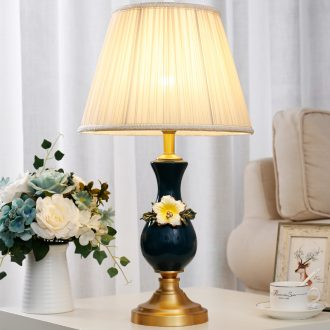 European-style bedroom berth lamp creative household contracted and contemporary study living room warm creative ceramic table lamps and lanterns