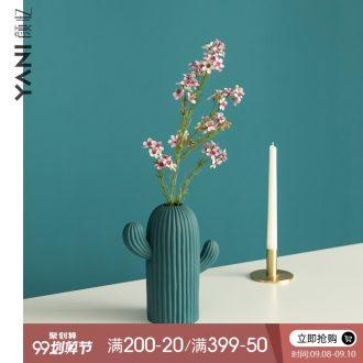 YANI yan have contracted northern wind sitting room adornment ceramic vase mesa creative furnishing articles cactus flower arrangement