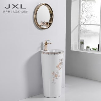 Ceramic face basin basin sink balcony sinks one pillar pillar of vertical basin household toilet