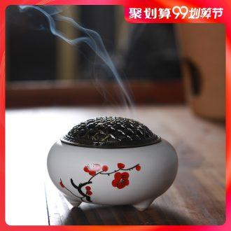 Hong bo acura censer ceramic sitting room place tea set sandalwood incense bedroom joss stick plate censer smoked incense burner