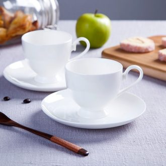 Jingdezhen european-style bone porcelain white ceramic cup afternoon tea set creative household soft outfit coffee cups and saucers send the spoon