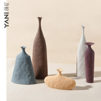 Nordic ins wind grain embryo ceramic vase wine home craft adornment art texture morandi example room