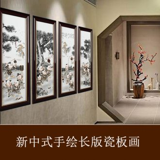 Chrysanthemum patterns ceramic painter hand-painted scenery jingdezhen porcelain plate in the sitting room sofa setting wall decoration