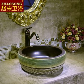 Creative household ceramics stage basin large American Europe type restoring ancient ways the sink toilet lavatory basin outside
