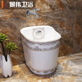 Balcony mop pool ceramic mop pool mop pool small mop trough large pool toilet mop basin of the balcony