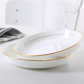 Colour the bone porcelain of jingdezhen ceramic creative water cube western-style food home phnom penh dish dish home meal soup plate plate plate