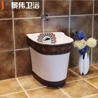 JingWei balcony wash mop pool ceramic mop pool mop basin to mop pool small mop pool
