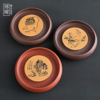 Bo yiu yixing are recommended on household ceramics kung fu tea accessories small dry bubble a pot mat pot saucer tray