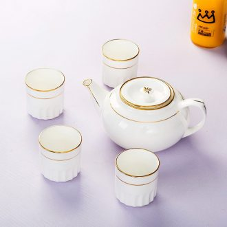 Jingdezhen bone China tea sets phnom penh suit household contracted ceramic cool water of a complete set of tea cups teapot