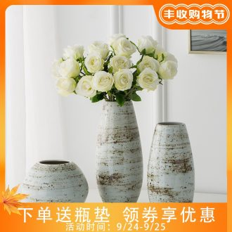 Jingdezhen ceramic vases, contemporary and contracted study furnishing articles sitting room creative fashion hydroponic flower arranging flowers vases