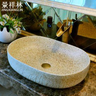 Basin ceramic art basin of oval table Europe type restoring ancient ways tuba basin basin bathroom hand wash basin