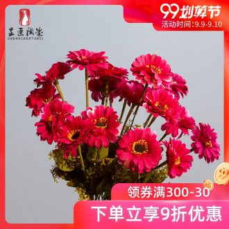 The minister ceramic rotary LangJu artificial flowers simulation flowers decoration wedding bouquet put table in the sitting room adornment