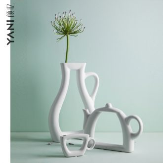 Nordic ins contracted wind vase furnishing articles sitting room flower arranging study adornment ark ceramic vases, flower vase the teapot