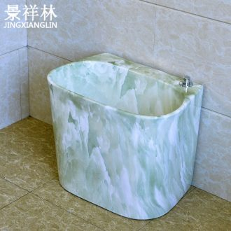Ceramic mop pool balcony mop pool mop pool under the dual drive machine control rotate the toilet washing floor mop basin