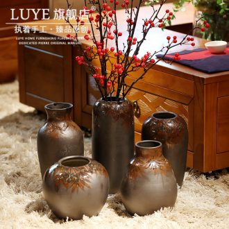Jingdezhen ceramic vase simulation flower suit new Chinese style restoring ancient ways furnishing articles flower implement home decoration european-style originality