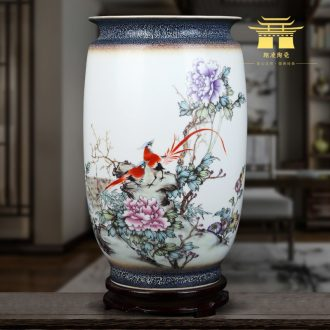 Jingdezhen ceramics vases, flower arranging famille rose porcelain furnishing articles sitting room TV ark of Chinese style household decorative arts and crafts