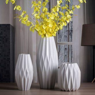 Jingdezhen porcelain vase white living room home decoration boreal Europe style ceramic ins art porcelain vase furnishing articles