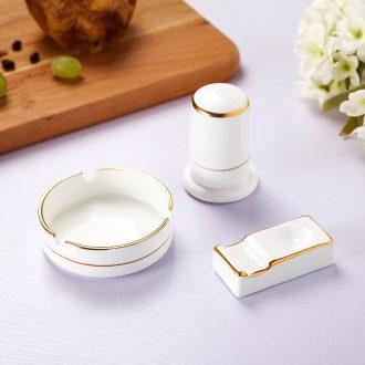 Jingdezhen suit hand paint hotel table ashtray toothpicks extinguishers chopsticks