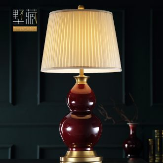 Large number of new Chinese style desk lamp ceramic art deco American designer contracted copper whole sitting room porch town house