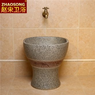 Jingdezhen square large Siamese toilet retro mop mop pool pool mop basin mop pool outdoor balcony