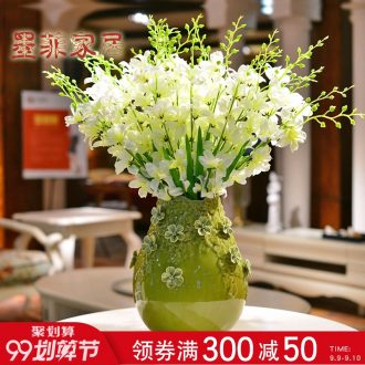 Murphy handmade ceramic vase furnishing articles contemporary and contracted sitting room TV cabinet table household decorative dried flowers flower arrangement