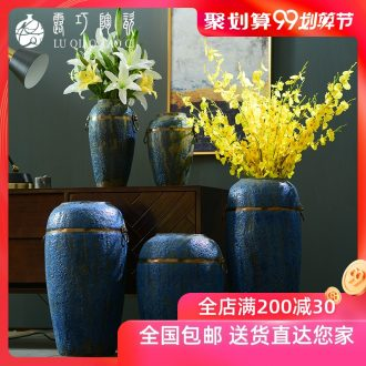 Dew retro ceramic vase of large living room TV ark opportunely dry flower vase household archaized decorations furnishing articles