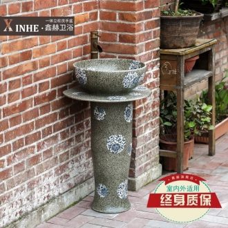 Ceramic pillar lavabo household arts balcony outdoor toilet toilet basin that wash a face wash basin