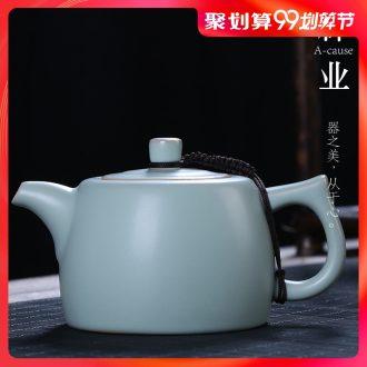 Your kiln manually start the teapot auspicious industry ceramic kung fu tea set for her single pot stone gourd ladle pot household porcelain teapot