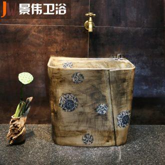 Blue and white art JingWei mop pool ceramic wash mop pool restoring ancient ways of household toilet floor mop pool