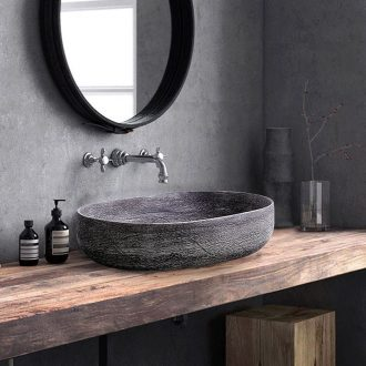 Jingdezhen ceramic sink basin on the oval basin of Chinese style restoring ancient ways is individual character art hotel toilet commode