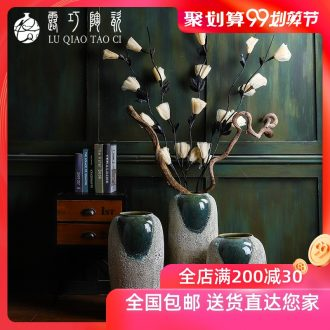 Jingdezhen ceramic flower arranging American furnishing articles to restore ancient ways opportunely sitting room of large vases, creative landscape porch is decorated