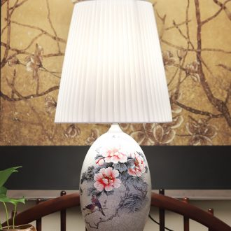 New Chinese style lamp ceramic decoration art of contemporary and contracted retro hand-painted all copper lamps and lanterns of the sitting room the bedroom of the head of a bed