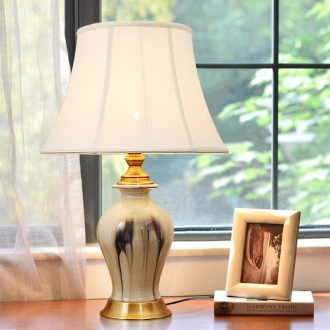 American table lamp ceramic creative household contracted and contemporary sweet wedding room european-style ins bedroom berth lamp