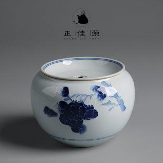 Are good source of ancient celadon hand-painted tea-leaf Japanese tea wash in hot water jar ceramic cylinder bucket bath fittings of kung fu tea set