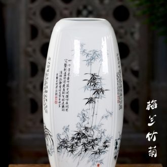 Jingdezhen ceramics flower home mesa of contemporary sitting room adornment is placed chrysanthemum patterns Chinese wind vase