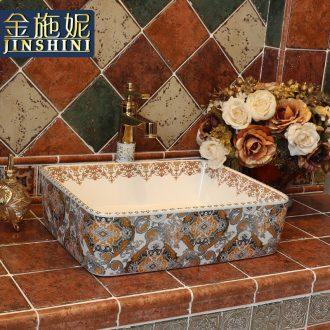 Gold cellnique jingdezhen ceramic lavatory hands pool bathroom art basin with rich European stage basin dancing illusions