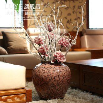 Ceramic vase crack landing big vase sitting room decoration new high-grade kiln household vase handicraft furnishing articles