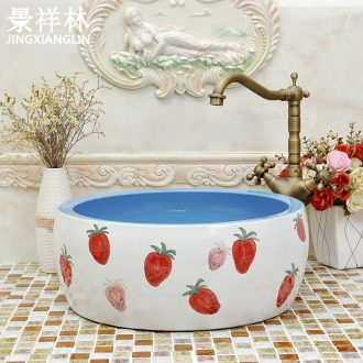 Round the stage basin ceramic art basin of continental basin cute face basin lavatory toilet hand basin