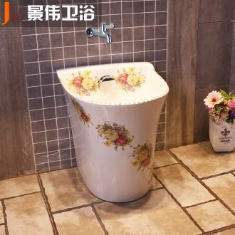 Mop pool ceramic mop basin floor mop pool of household toilet mop pool small balcony palmer pool