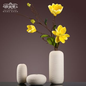 Contemporary and contracted sitting room table ceramic vase furnishing articles european-style flower arranging dried flower flower implement household soft adornment in the living room