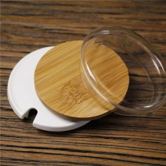 General mark cup lid thicken water bamboo lid cover glass lid large ceramic cups cover wood stamped with the grommet
