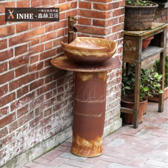 Lavabo ceramic pillar one floor sculpture art restoring ancient ways the pool that wash a face basin bathroom balcony toilet