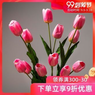The minister ceramic simulation flowers sitting room place decorative flowers purple tulip dry flower bouquets of flowers simulation