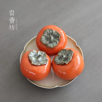 YanXiang fang creative persimmon caddy medium size ceramic household small place personality POTS