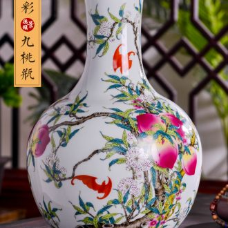 Jingdezhen ceramics vases, flower arranging archaize sitting room large porch rich ancient frame of Chinese style household adornment furnishing articles