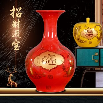 Jingdezhen porcelain treasures fill the home furnishing articles sitting room decoration stores Chinese mesa floret bottle bottle office desktop