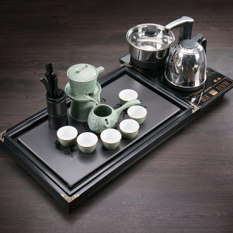 Ronkin solid ground kung fu tea set tea saucer of a complete set of creative contracted household ceramics small tea table
